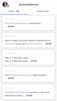 A few of my saved tweets on the Buffer app